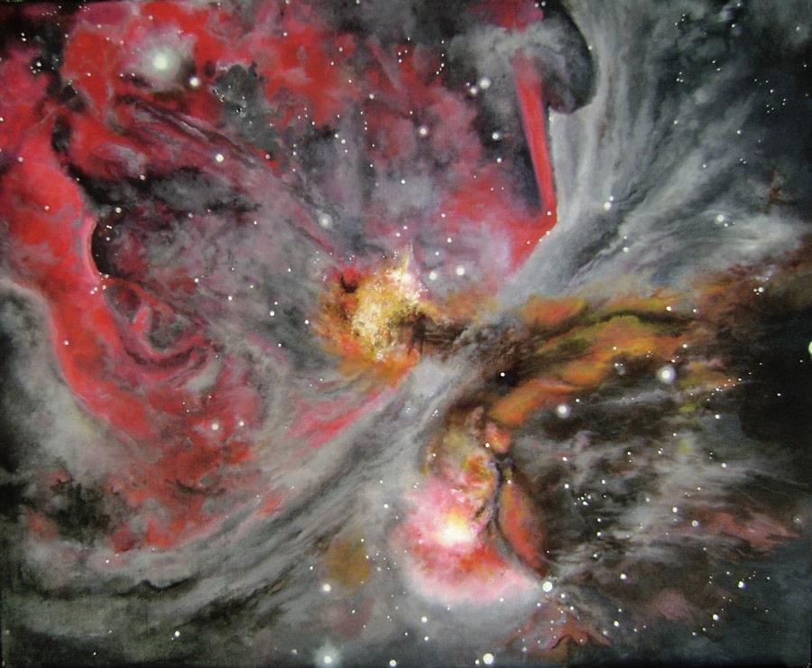 Peinture orion cosmos